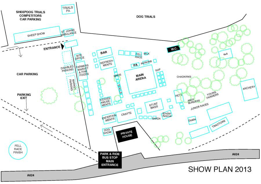 Hayfield Show 2013 site plan